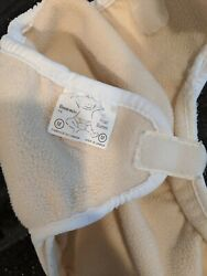 Bummis Polar Bummi Fleece Cover - White, Med. Hook And Loop Double Gusset Vguc