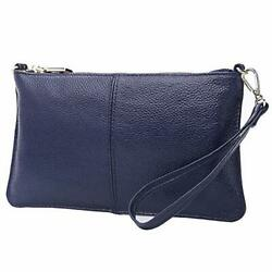 Leather Crossbody Purses Clutch Phone Wallets with Card Slots for Blue Leather $31.12