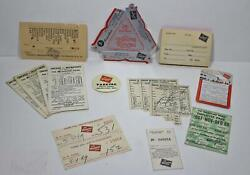 Milwaukee Road Paper Lot Jiffy Ashtray Parking Day Pass 1969 Calendar Dining Car