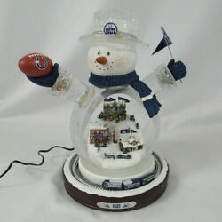 Indianapolis Colts Bradford Exchange Nfl Crystal Snowman With Moving Train
