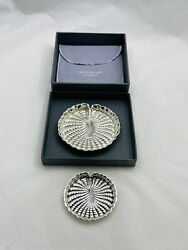 Authentic Two Sterling Silver Buccellati Water Lily Leaf Form Dishes Italy
