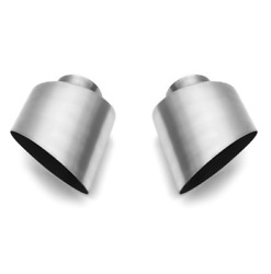 Fabspeed 993 Carrera Narrow Body Single Wall Oval Bolt-on Brushed Stainless Tips
