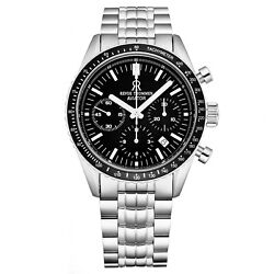 Revue Thommen 17000.6137 'aviator' Stainless Steel Chronograph Automatic Watch