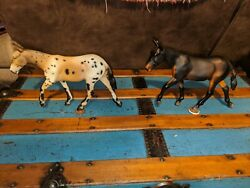 Breyer lot of 2 traditional Mules