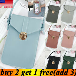 US Cross body Touch Screen Cell Phone Wallet Shoulder Bag Leather Pouch Case $6.99
