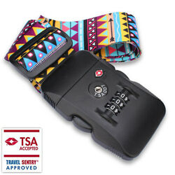 Adjustable Suitcase Belts For Baggage Tsa Security Lock With Buckle Closure