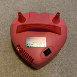 New Pink Heart Portable Double Electric Balloon Air Pump Inflator 120v Q-520