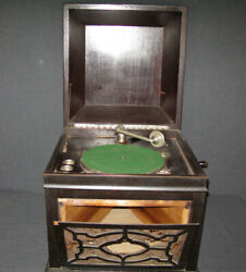 Antique Wind Up Phonograph Record Player Columbia 78 Rpm