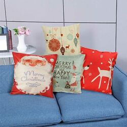 Christmas Series Cushion Cover Case Pillow Zippered Square Pillowcase 18quot; x 18quot;