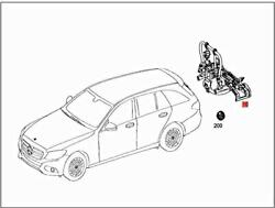Genuine Mercedes Bbdc X222 W242 415 Bicycle Carrier 0008900300