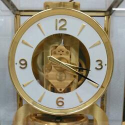 Junk Jaeger Lecoutre Atmos Clock Gold Atmospheric Temperature Not Working