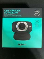 New Logitech C615 1080p Hd Webcam With Fold-and-go Design In Stock/ship Now