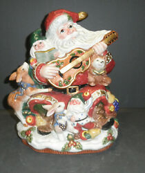 Fitz And Floyd Forest Festival Cookie Jar- New In Box - 2070/173