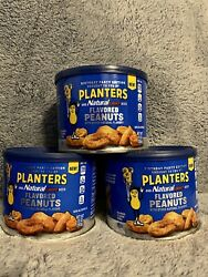 New Planters Natural Light Beer Nuts Flavored Peanuts 10 Oz. Cans Set Of 3
