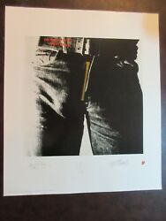 Andy Warhol Print - Sticky Fingers- Litho Rolling Stones Jagger Richards Watts