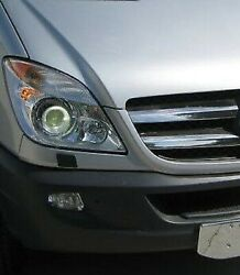 Chrome Front Grille Accent Trim Set Covers To Fit Mercedes-benz Sprinter 06-13