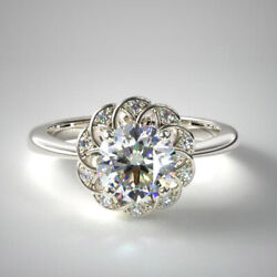 0.60 Carat Real Round Cut Diamond Engagement Rings Solid 950 Platinum Size 7 8 9