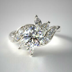 Solid 18k White Gold 0.91 Carat Real Round Diamond Engagement Rings Size 5 7 8 9