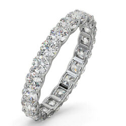 Solid 14k White Gold 2.00 Ct Round Real Diamond Wedding Band For Her Size N O P