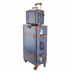 Co-z Premium Vintage Luggage Sets 24 Trolley Suitcase And 12 Hand Bag Set W...