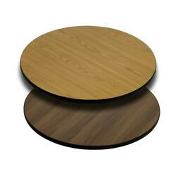 30and039and039 Round Table Top With Natural Or Walnut Reversible Laminate Top