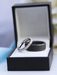 1.62 Carat Solid 950 Platinum Real Diamond Engagement Band For Women Size 5 6 7