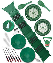 53 Gold Panning Supply Kit And Sluice Box   Placer Prospecting   Mining Equipment