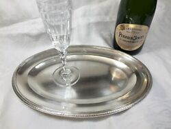 Antique French Hotel Silver Imperial Hotel Serving Tray