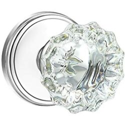 Shiny Handles Crystal Glass Interior Door Knobs, Passage For Hall And Closet, -