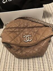 100%Authentic Chanel Hobo Bag With Silver Chain $1850.00