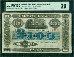 Ulster Bank Limited, Northern Ireland £100 Belfast, 1 March 1941 Pick 320 Pmg 30