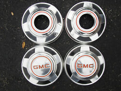 Vintage Oem 1973-87 Gmc 4x4 1/2 Ton Truck Dog Dish Poverty Hubcaps Wheel Covers