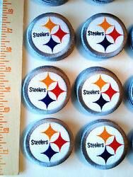 6 Nfl Pittsburgh Steelers Nfl Iron-on Patches.mint.lot.fast Ship.afc Big Ben