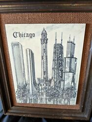 Rare 1979 Chicago Water Tower Etching Signed By Eugene Andreyev 11.5 X 9