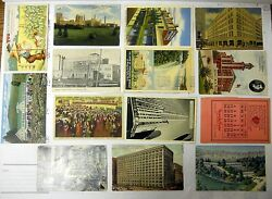 Vintage Very Rare All Original Collection Of 14 Advertising Postcards.