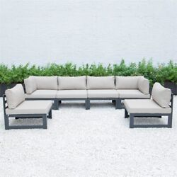 Leisuremod Chelsea 6-piece Sectional With Cushions In Beige