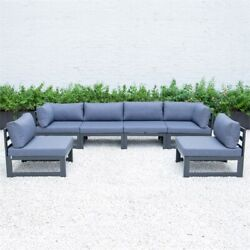 Leisuremod Chelsea 6-piece Sectional With Cushions In Blue