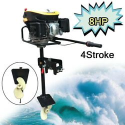 New 4 Stroke 8.0hp Outboard Motor Boat Engine Heavy Duty W/air Cooling System Us