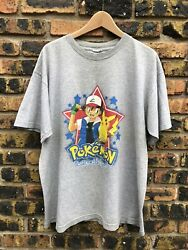 Vintage 1999 Pokemon Shirt Mens Xl Grey Great Condition