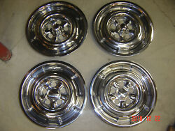 66 67 68 69 70 Ford Falcon Polished Wheel Covers Hubcaps Mint Xw Xt Xr Ho Xy Gt