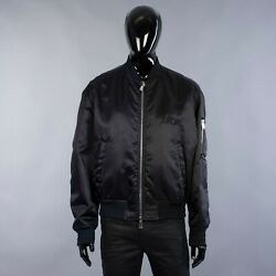 Dior X Judy Blame 3100 Bomber Jacket In Navy And Black Satin Technical Twill