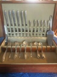 Towle Silver Flutes C1941 Sterling 47 Pcs Service For Six