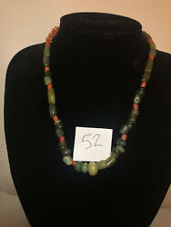 Pre Columbian Mayan Authentic Jade Beads 38 Pieces + 35 Red Agate Beads