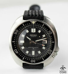 1973 Seiko Diver Automatic 150m Date Japan Military Mens Watch W/strap 6105-8119