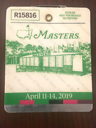 2019 Masters Badge Ticket Augusta National Golf Pga Tiger Woods Wins 5th Rare
