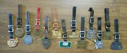 13 Vint Tractor Company And Dealers Watch Fobs Keychains Cat Harvester Terratrac