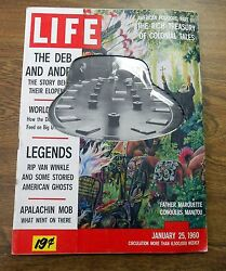 Life Magazine January 25 1960--nta Film Network Cut-out Edition