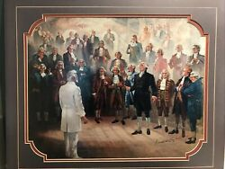 That We May Be Redeemed Founding Fathers Wilford Woodruff Signed Print Hopkinson