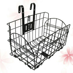 1 Pc Foldable Front Handlebar Hanging Basket Iron Bike Storage Basket Bi