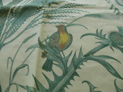 10y Brunschwig And Fils Bird And Thistle Screen Print Green Msrp1960